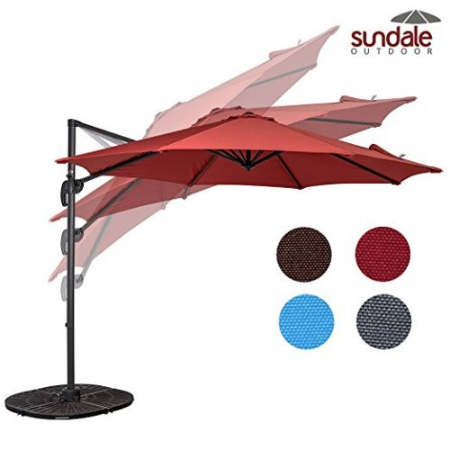 Sundale Outdoor 10ft Hanging Roma Offset Umbrella Outdoor Patio - Offset Patio Umbrellas