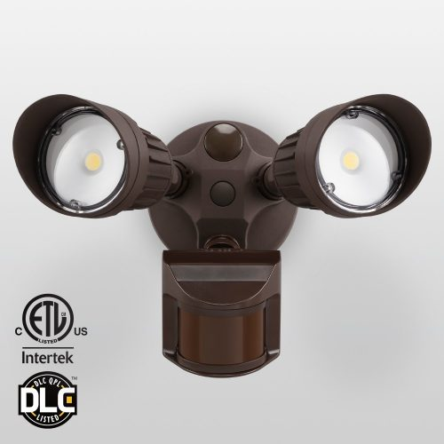 20W Dual-Head Motion-Activated LED Outdoor Security Light, Photocell Included, Newly Designed 3 Lighting Modes,5000K Daylight, Waterproof, 120W Halogen Equiv. Illumination for Yard, Garage, Porch - Motion Sensor Lights