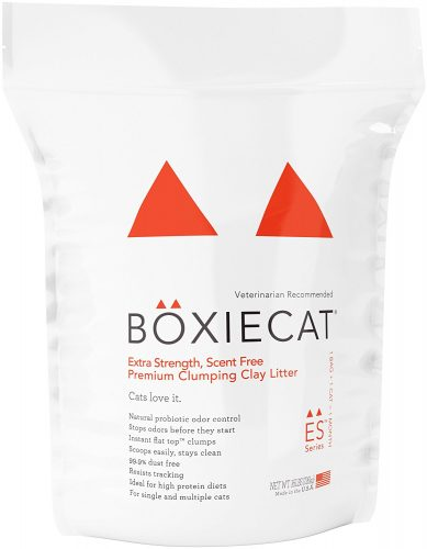 Boxiecat Extra Strength Premium Clumping Clay Cat Litter - Clumping Cat Litter