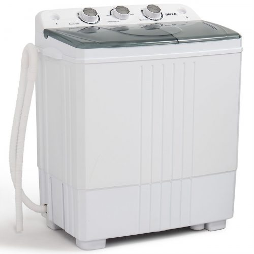Della Small Compact Portable Washing Machine 11lbs Capacity with Spin Dryer - Portable Washing Machine
