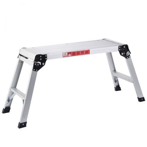 Giantex Hd En131 Aluminum Platform Drywall Step up Folding Work Bench Stool Ladder by Giantex - Portable Workbench