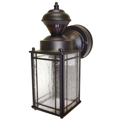 Heath/Zenith HZ-4133- OR Shaker Cove Mission-Style with total of 150-Degree Motion-Sensing and can be used as a Decorative Security Light, Oil-Rubbed Bronze - Motion Sensor Lights