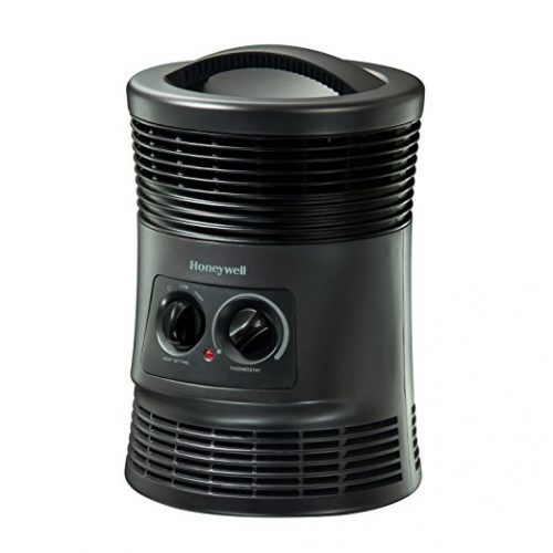 Honeywell 360 Degree Surround Fan Forced Heater with Surround Heat Output, Charcoal Grey - Battery Operated Heaters