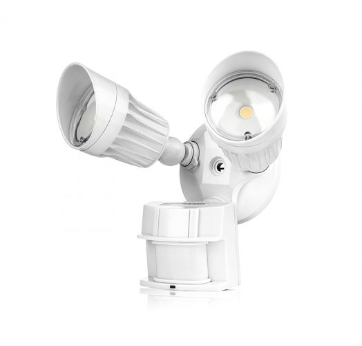 Hyperion LED Security Light, the total of 20W (100W Equivalent) Outdoor Motion Sensor Light, 1800lm, 5000K (Crystal White Glow), Weather and Waterproof IP65; UL, 40° Beam Angle, CRI 80+, Adjustable Head, 120 volts. - Motion Sensor Lights