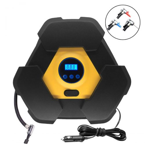 NOOX Tire Inflator Air Compressor Electrical Air Pump Portable 12v for Car SUV Motor Bike Air Mattresses Airboat Airbed Aircushion Basketballs and Other Inflatables - tire inflator