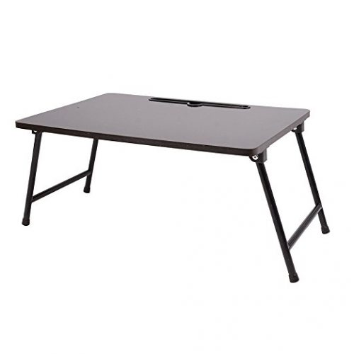 Qwork Laptop Desk Laptop Stand Table iPad Tray for bed with Foldable Legs - Folding Camping Table