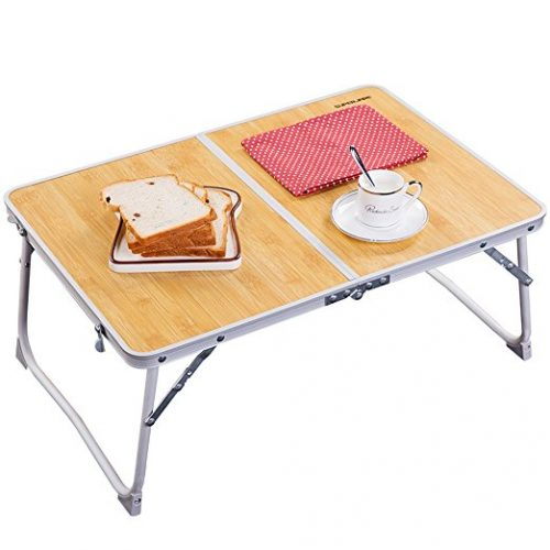 Superjare Laptop Table, Portable Outdoor Camping Table (Mini), Foldable Laptop Desk - Folding Camping Table
