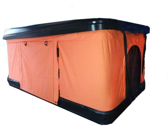 TMB Motorsports Orange Pop Up Roof Tent Universal for Cars Trucks SUVs Camping Travel Mobile - Suv Tent