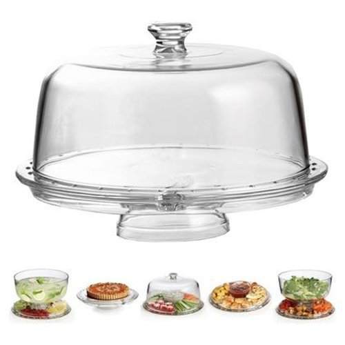 Chef's Star Amazing Acrylic Cake Stand Multifunctional Cake and Serving Stand - cake stands with dome
