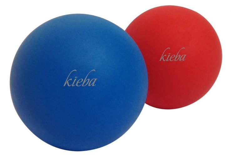 Kieba Massage Lacrosse Balls for Myofascial Release, Trigger Point Therapy, Muscle Knots, and Yoga Therapy. Set of 2 Firm Balls - massage balls
