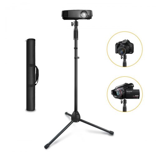 "Link Dream Projector Stand, Link Dream Portable Tripod Stand Adjustable Height 29.5"" to 55.1"" Anti-Slip 360° Swivel Ball Head for Mini Projector, Small Camera, Webcam, GoPro with carrying Bag - Projector Tripod Stands"