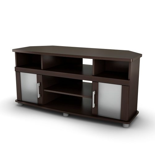 South Shore City Life Corner TV Stand - Fits TVs Up to 50'' Wide - Chocolate - Wooden TV Stand