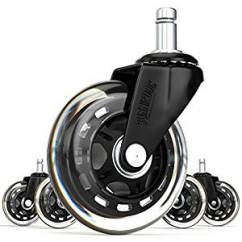 Desk Chair Casters Glass Top Wood 10 Best Office Caster Wheels In 2019 Fit For Any Sunniedog 3 Inch Rollerblade Style Wheel Replacement Black Set