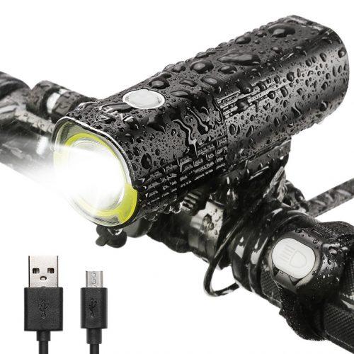 INTEY Bike Light LED Bicycle Lights USB Rechargeable Bicycle Headlight 1000 Lumens IPX6 Waterproof - Bicycle Headlights
