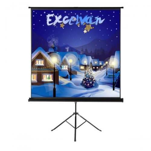 "Excelvan Projector Screen with Foldable Stand Tripod, Excelvan Portable 70"" x 70"" HD 1:1 Pull Up Movie Screen for Home Theater Cinema Wedding Party Office Presentation - Projector Screen with Stands"