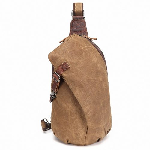 AOTIAN Waterproof Waxed Canvas Sling Backpacks Unisex Chest Bags, Warranty 2-Years  - Sling Bag For Women