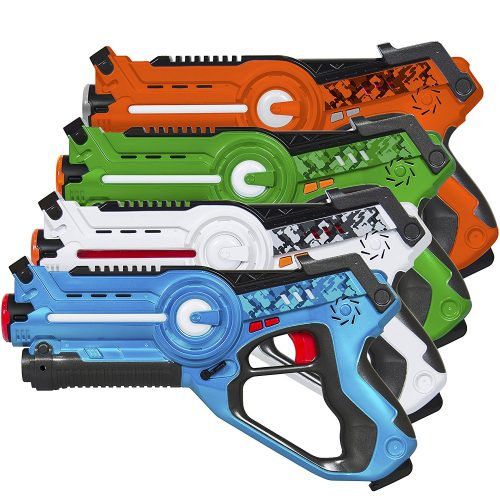 Best Choice Products Kids Laser Tag Set Gun Toy Blasters W/ Multiplayer Mode, 4 Pack - Laser Tag Guns