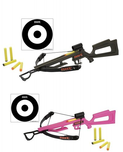 NXT Generation His & Hers Toy Crossbow Set - Shoots Almost 70 Feet with Amazing Accuracy - Compound Bows For Kids