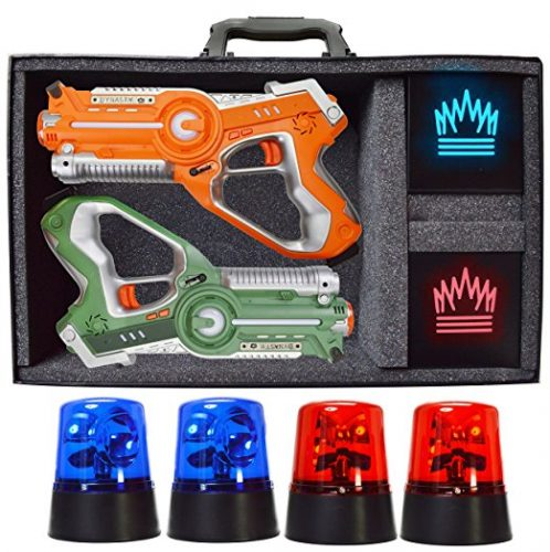Dynasty Toys Capture the Flag Glow in the Dark Laser Tag Game for Indoor Games at Home / Outdoor Night Birthday Party - Laser Tag Toys