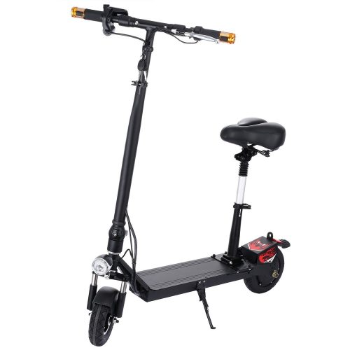 Fashine Foldable Electric Scooters with Seat for Adults, 3 Level Adjustable Seat and HandleBar, LED Display, Headlight, High-Speed Lightweight E-scooter, Max Load 250lbs - Electric Scooters with Seat