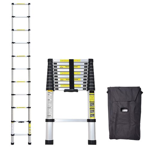 Idealchoiceproduct 10.5 FT Aluminium Telescopic Telescoping Ladder Extension Steps. - Telescoping Ladder
