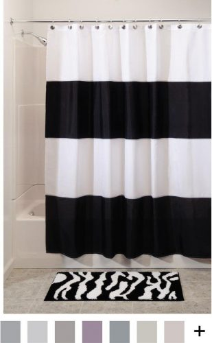 InterDesign Zeno Water Repellent Shower Curtain- Shower Curtain