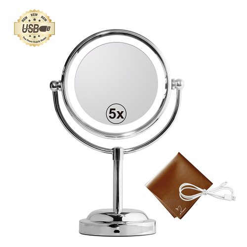 MY CANARY LED Makeup Mirror With Battery /USB Powered - Ring Lighted Mirrors