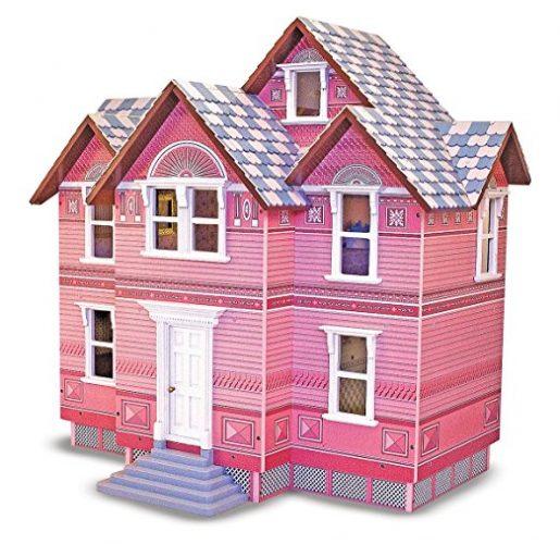 Melissa & Doug Classic Heirloom Victorian Wooden Dollhouse - Doll House Toys
