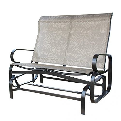 PatioPost Glider Bench Outdoor 2 Person Loveseat Chair Patio Porch Swing with Rocker - Patio Gliders