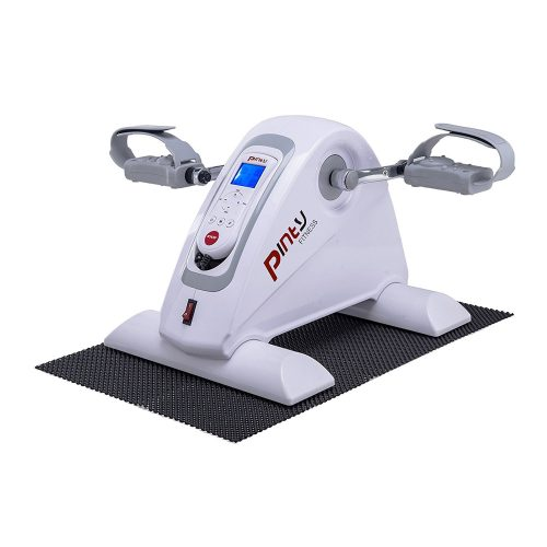 Pinty Compact Motorized Mini Exercise Bike Pedal Exerciser Portable Cycle Lightweight for Arms and Legs with LED Monitor Fitness. - portable elliptical