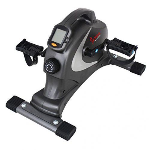 Sunny Health & Fitness SF-B0418 Magnetic Mini Exercise Bike, Gray - portable elliptical