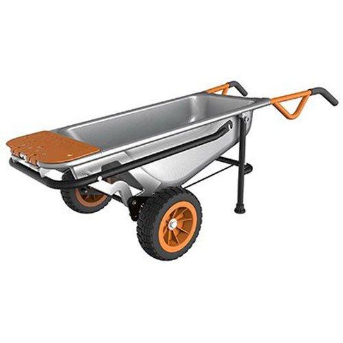 WORX Aero cart Multifunction 2-Wheeled Yard Cart, Dolly, and Wheelbarrow with Flat Free Tires-WG050 - 2-WHEEL WHEELBARROW