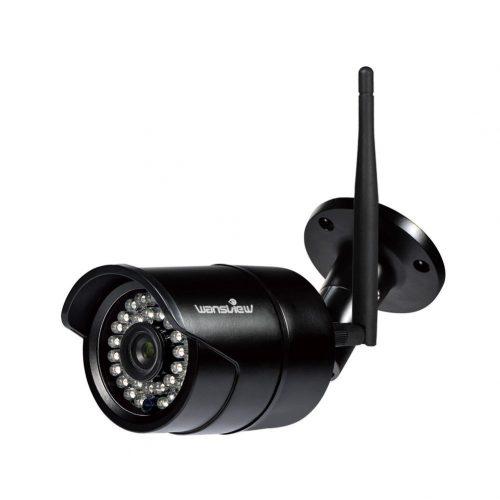 Wansview Outdoor 720P WiFi Wireless IP Security Bullet Camera, IP66 Weatherproof, 720P W3-Black. - Wireless Webcam