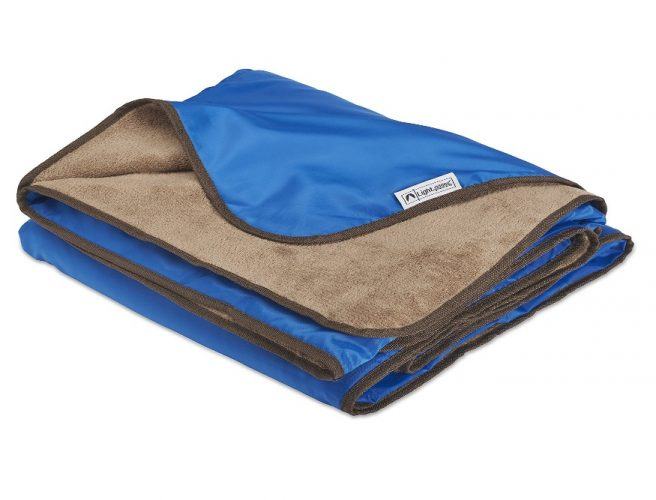 XL Plush Fleece Outdoor Stadium Rainproof and Windproof Picnic Blanket - Camp Blanket - Picnic Blankets