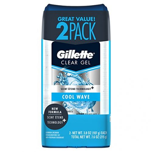 Gillette Cool Wave Clear Gel Men's Antiperspirant and Deodorant 3.8 oz. Each 2-Pack. - deodorants for men