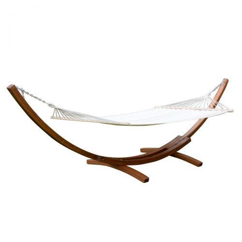 "Giantex 161"" Wooden Curved Arc Hammock Stand W/ Hammocksize Outdoor Patio Garden Swing(161.4""X47.2""X48.0"")"