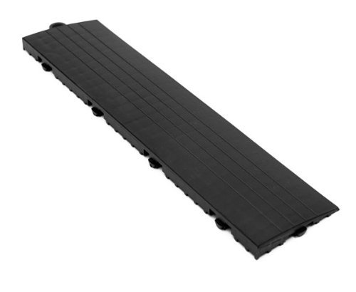 IncStores Grid Loc Edge & Corner Pieces - Snap Together Tile to Floor Transition Border Accessories (Male Edge Pieces - 4 Pack, Midnight Black)