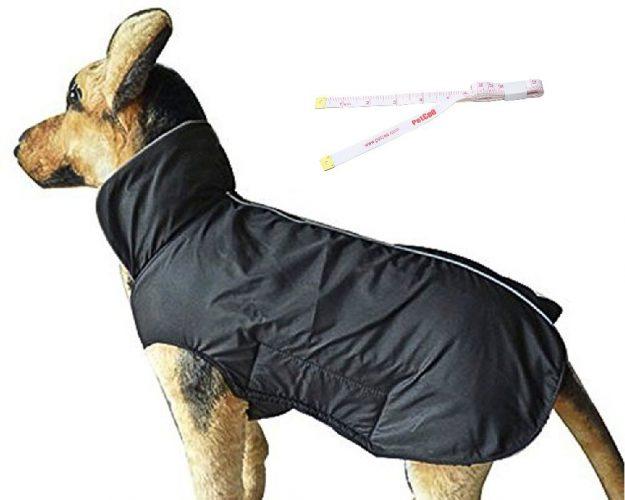 PetCee Dog Jacket,Waterproof Fleece Lined Reflective Jacket Dog Loft Jacket Dog Climate Changer Fleece Jacket with a Tape Measure