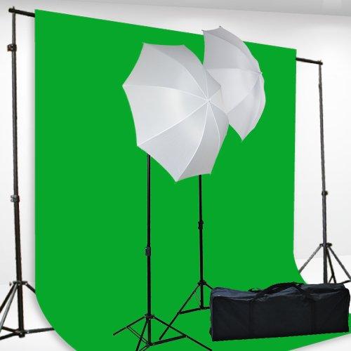 "Chromakey Green Screen Kit Lighting Kit 400 Watt Video Lighting Kit by fancierstudio - 6x9-Feet Green Screen (H69G)<div class=""amz-buttons""> <a href=""http://www.amazon.com/dp/""""?tag=buyinghack-20"" rel=""nofollow"" target=""_blank"" class=""amz-btn-txt""><i class=""fa fa-shopping-cart"" aria-hidden=""true""></i>Get it now on Amazon.com </a></div>"
