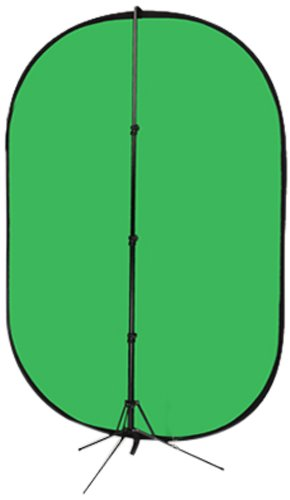 Fotodiox 5'x7' Collapsible Chromakey Green + Blue 2-in-1 Background Panel and Suppo