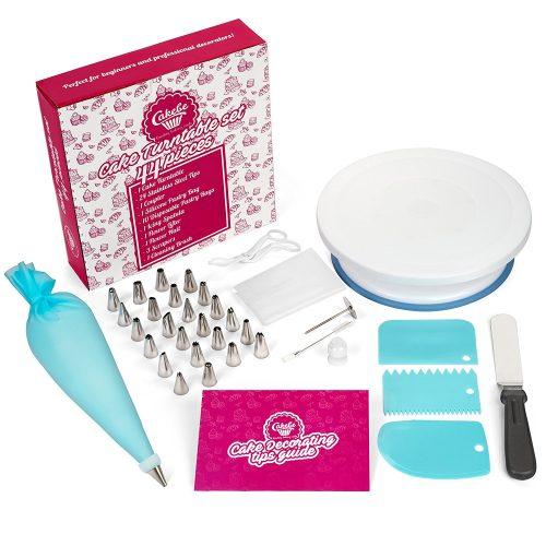 Cakebe Cake Decorating Supplies Kit 44pcs Set, Baking Piping Tools- Cake Decorating Kit