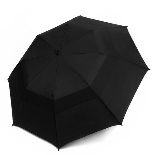 EEZ-Y Compact Travel Umbrella w/ Windproof Double Canopy Construction - Auto Open Close - Compact umbrella