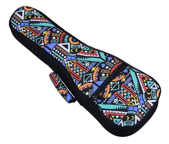 HOT SEAL 10MM Sponge Padding Durable Colorful ukulele Case Bag with Storage