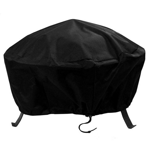 Sunnydaze Heavy-Duty Weather-Resistant Round Fire Pit Cover with Drawstring and Toggle Closure - fire pit covers