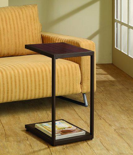 Coaster Home Furnishings 901007 Rectangular Snack Table, Dark Brown.