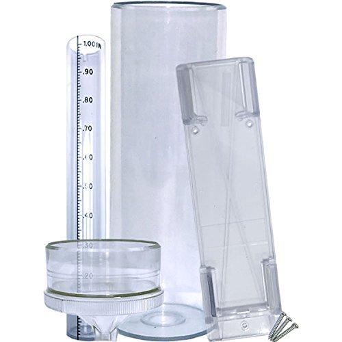"""Stratus Precision Rain Gauge with Mounting Bracket (14"""" All Weather)."""