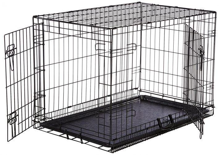 AmazonBasics Single Door Folding Metal Dog Crate with Paw guardian