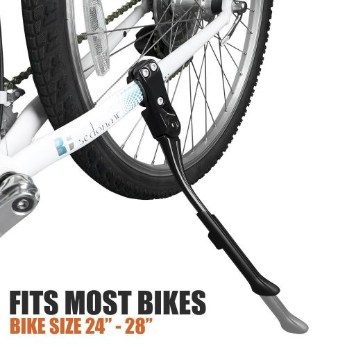 BV bike Kickstand- Alloy Adjustable Height Rear Side Bicycle Stand, Bike 24''-28