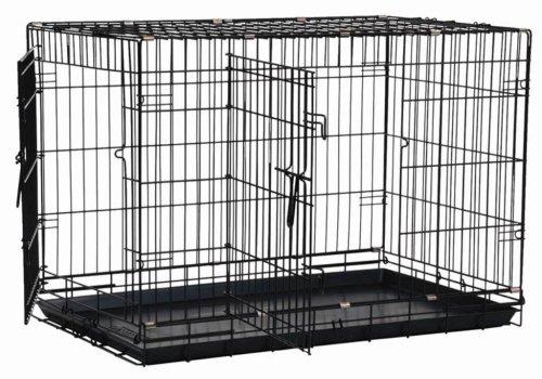 exactitude Pet Two-Door nice Crate, Black