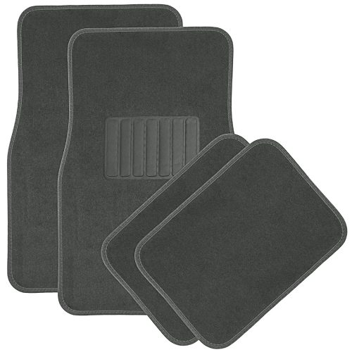 OxGord Universal Fit Front/ Rear 4-Piece Full Set Heavy Duty Economy Carpet Floor Mat